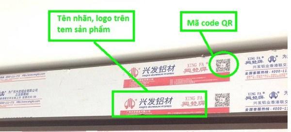 Nhôm Xingfa tem đỏ nhập khẩu
