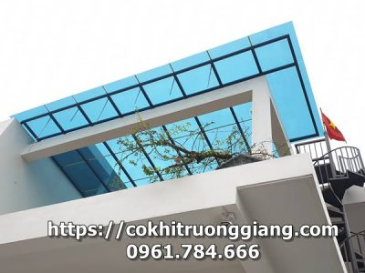 Tư vấn, thi công lắp đặt Mái che kính cho nhà a Dương ở Yên Mô, Ninh Bình